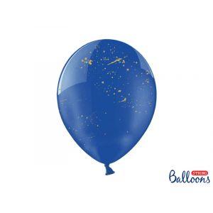 Kristallinsiniset ilmapallot kullanvärisellä kuviolla, 6 kpl.
