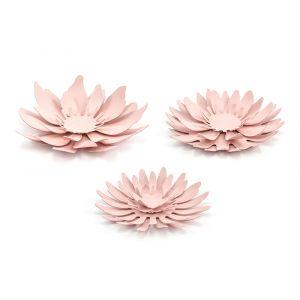 Paperikoristeet, Vaaleanpunaiset kukat, DIY-mix