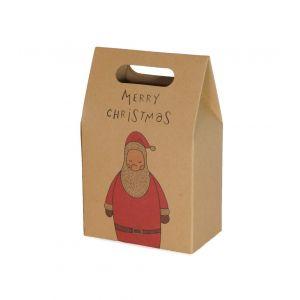 Joulupukki lahjapussi tekstillä