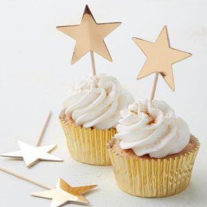 Koristetikut kultaisella tähdellä leivonnaisiin!