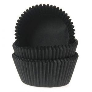 Mustat muffinivuoat, 50 kpl.
