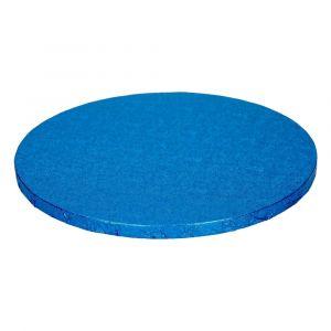 Sininen paksu kakkualusta kimalluksella.