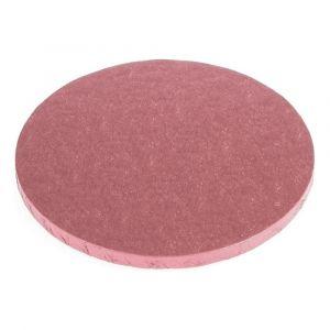 Vaaleanpunainen kimalteleva paksu kakkualusta.