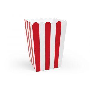 Popcorn-rasiat Puna-valkoinen
