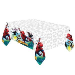 Spiderman muovinen pöytäliina, 120 x 180 cm.