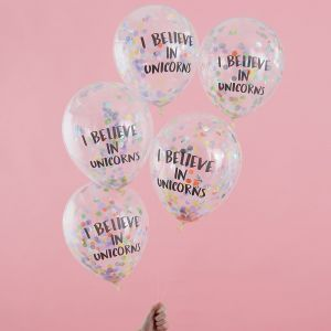 Konfett-ilmapallot tekstillä