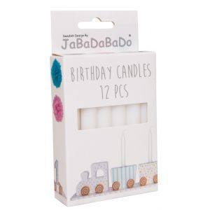 Valkoiset kynttilät syntymäpäiväjunaan!