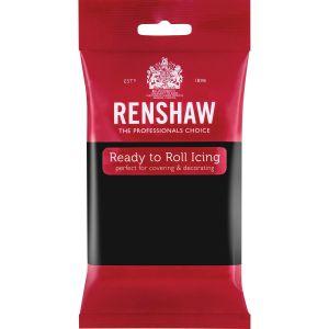 Renshaw Ready to Roll Icing Black - Musta sokerimassa, 250g.