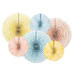 Paperiviuhkat mix 6 kpl - Summer Time