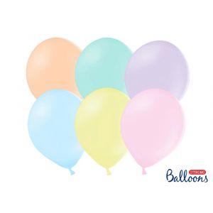 Pastellinväriset lateksi ilmapallot, 10 kpl.