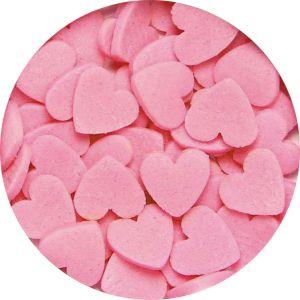 PME Pink Hearts - Vaaleanpunaiset sokerisydämet.
