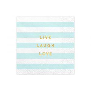 Lautasliinat Vaaleansiniset, Live Laugh Love