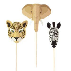 Kakkukoriste, Safari Eläimet, Nrsu, Leopardi, Seepra, 3 kpl