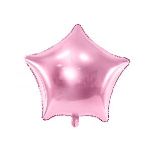 Vaaleanpunainen tähti foliopallo