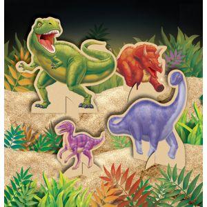 Dinosaurukset, pöytäkoriste, 4kpl