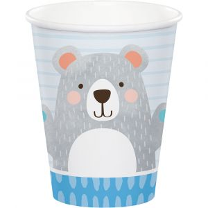 Birthday Bear Pahvimukit, 260ml, 8kpl