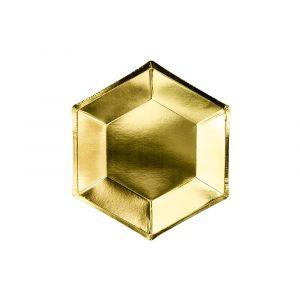Pahvilautaset Kulta 20 cm